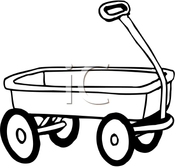 350x333 Wagon Clipart Black And White
