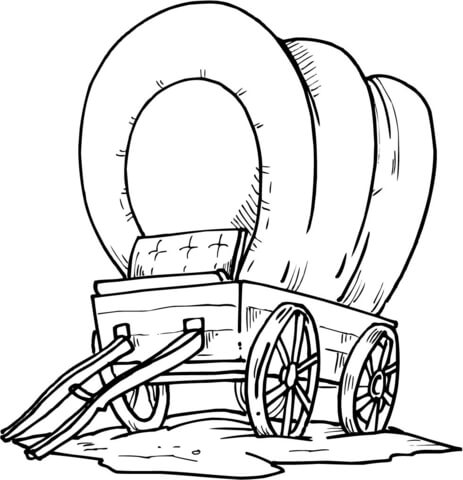 463x480 Wood Covered Wagon Coloring Page Free Printable Coloring Pages