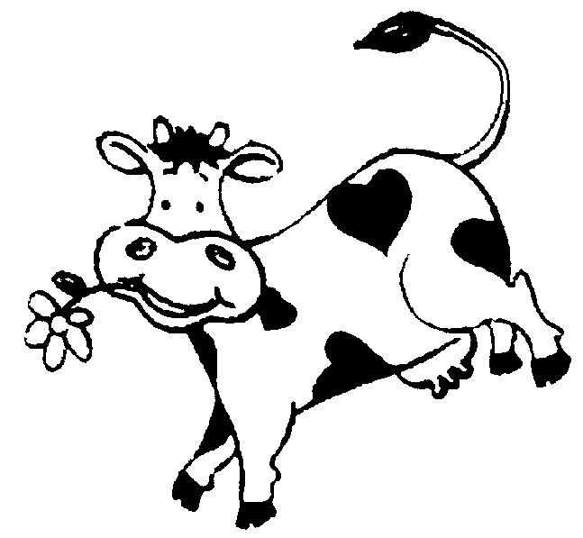 Cow Black And White Clipart