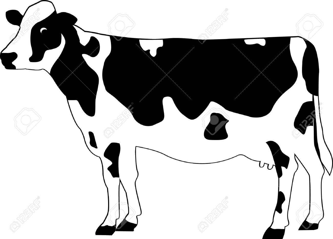 1300x932 Cattle Clipart Holstein Cow