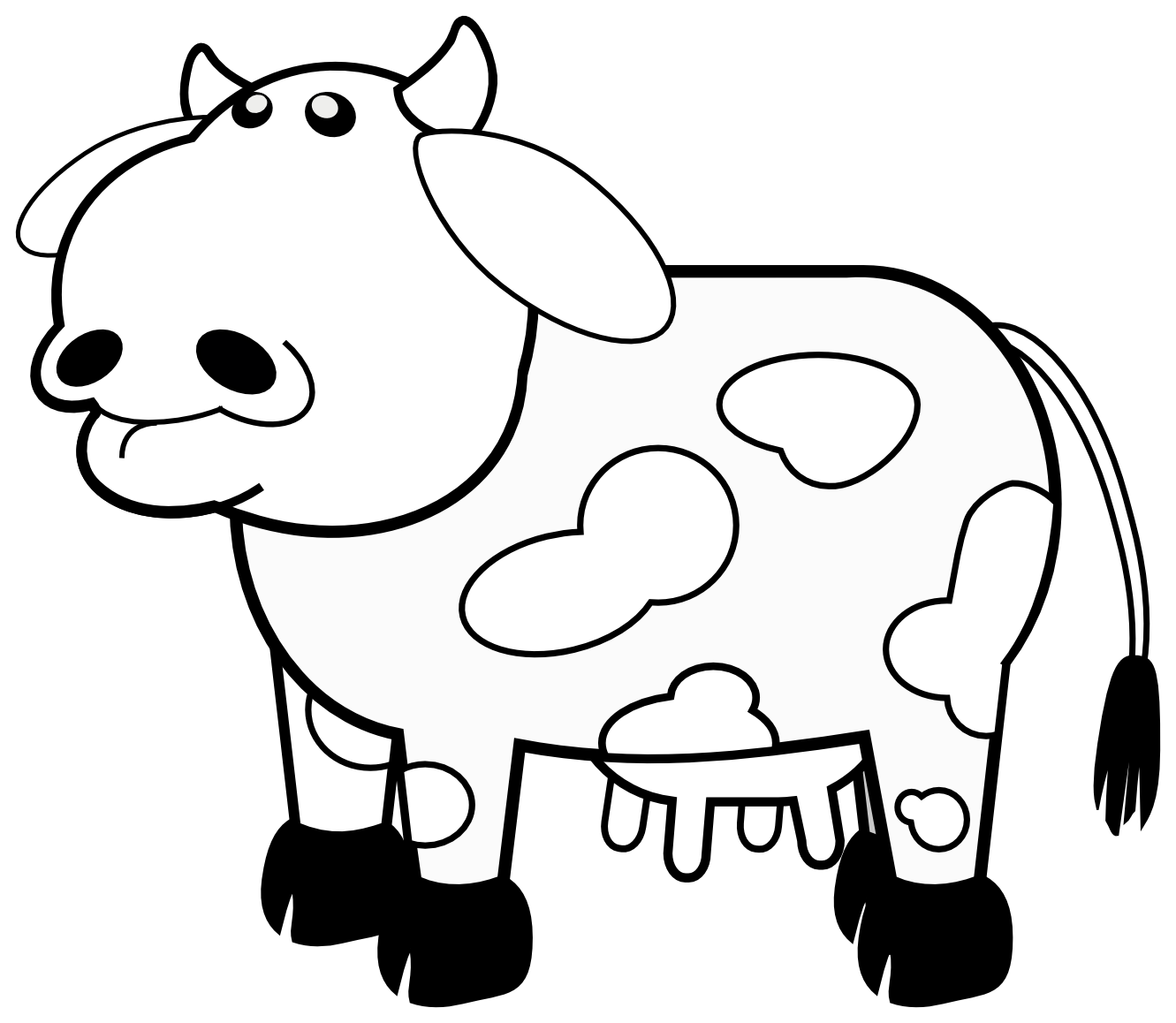 1331x1158 Cow Clipart Black And White Clipart Panda