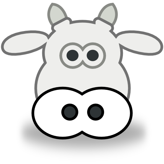 555x555 Cow Head Clip Art Many Interesting Cliparts