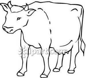 300x273 Cow Outline Clipart