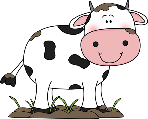 500x402 Cow In The Mud Clip Art