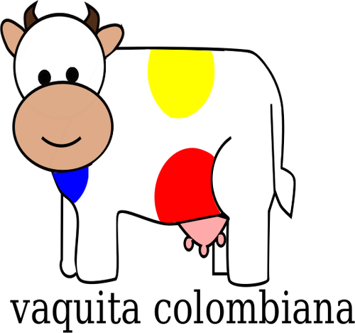 500x469 Colombian Cow Vector Clip Art Public Domain Vectors