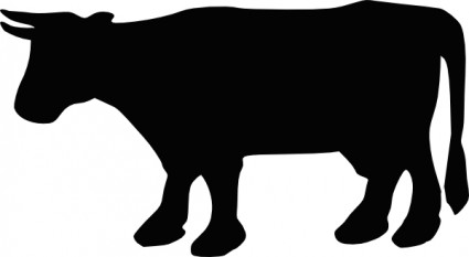 425x233 Cow Silhouette Clip Art Free Vectors Ui Download