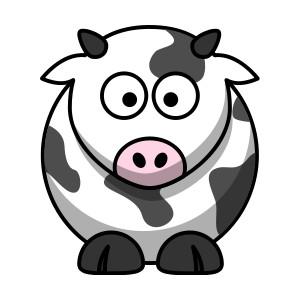 300x300 Cow Clip Art Pictures Cartoon Clipart Image 5 Image Clipartix
