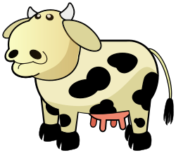 250x218 Free Cow Clip Art That Makes You Say Moo!