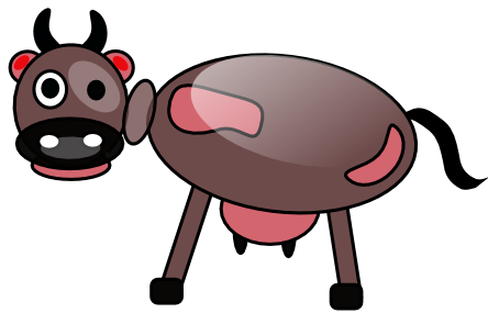 444x285 Free To Use Amp Public Domain Cow Clip Art