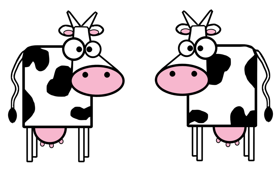 958x606 Public Domain Clip Art Image Illustration Of Cartoon Cows Id