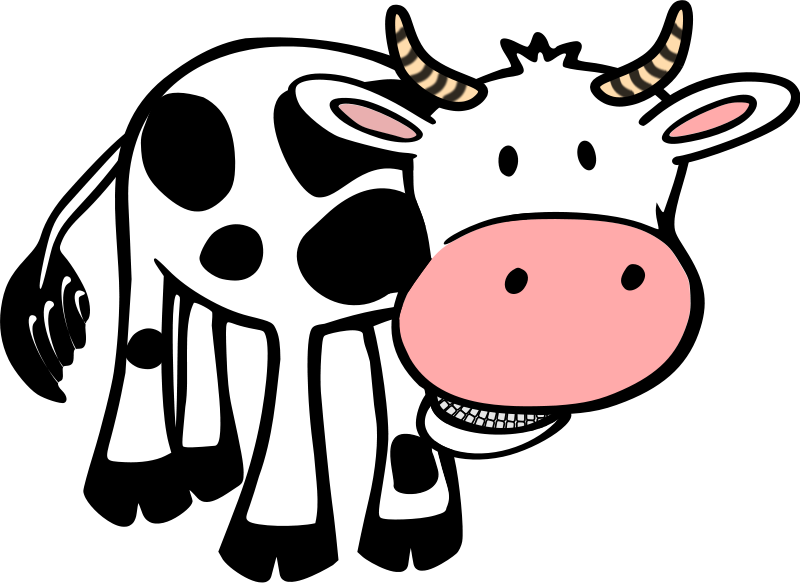 800x583 Tired Clipart Cow
