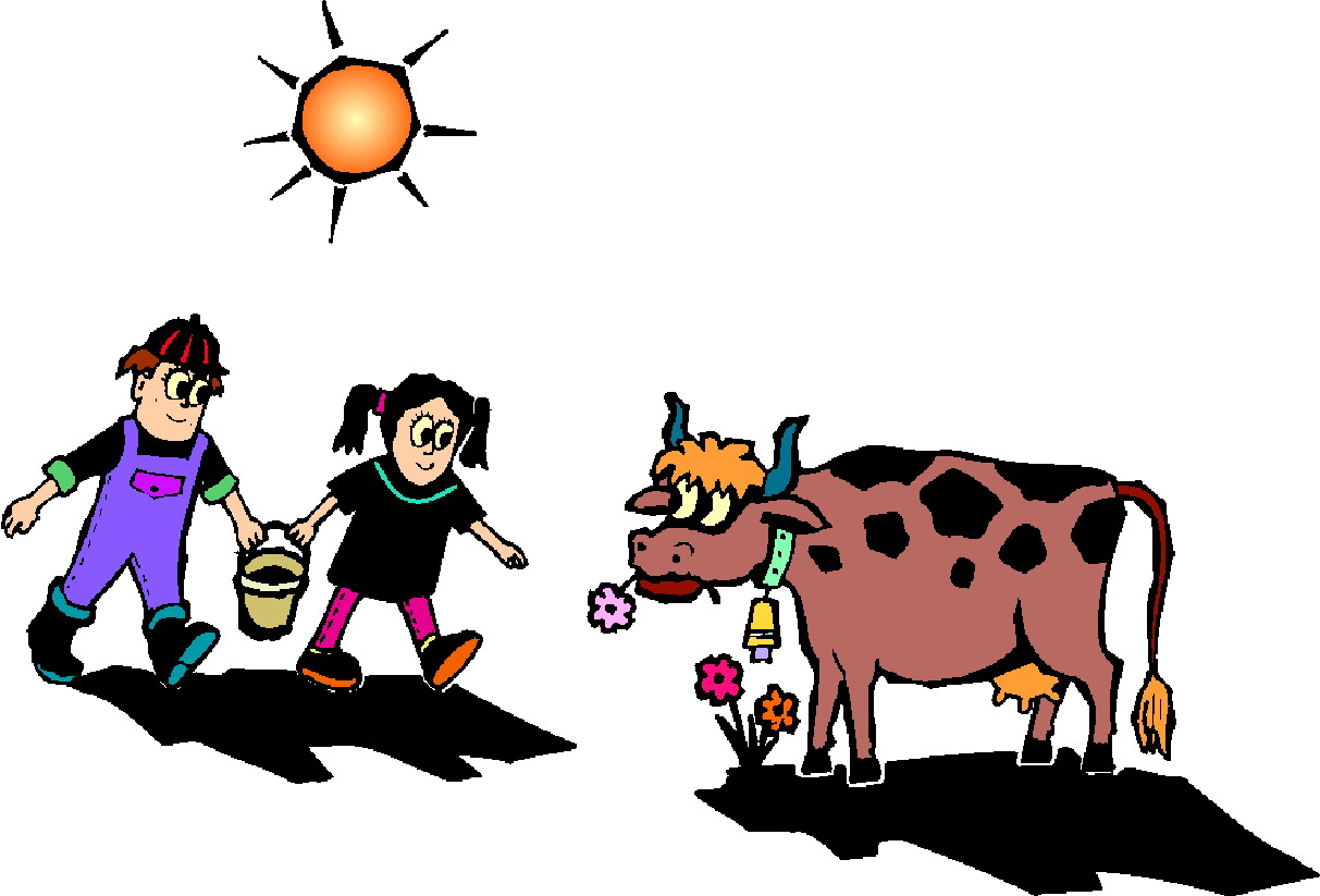 1213x823 Village Clipart Cow