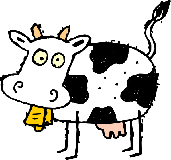 600x562 Cartoon Cow Clip Art