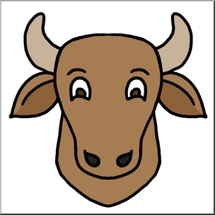 304x304 Clip Art Cartoon Animal Faces Cow Color I Abcteach