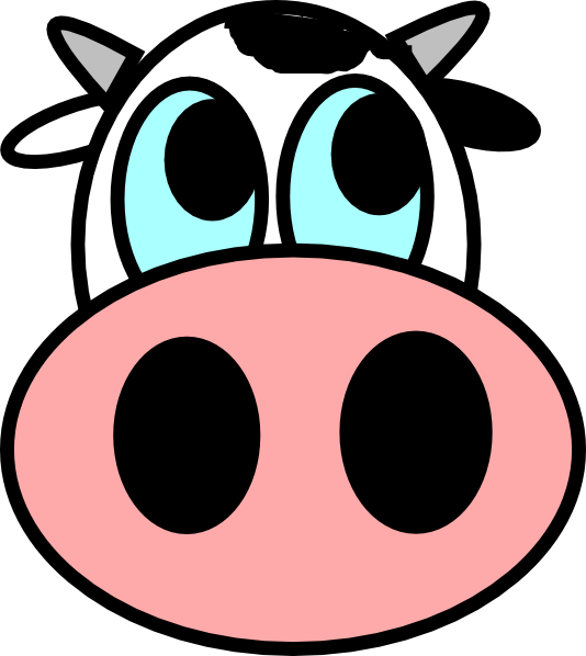 534x598 Cow Face Drawing Clip Art
