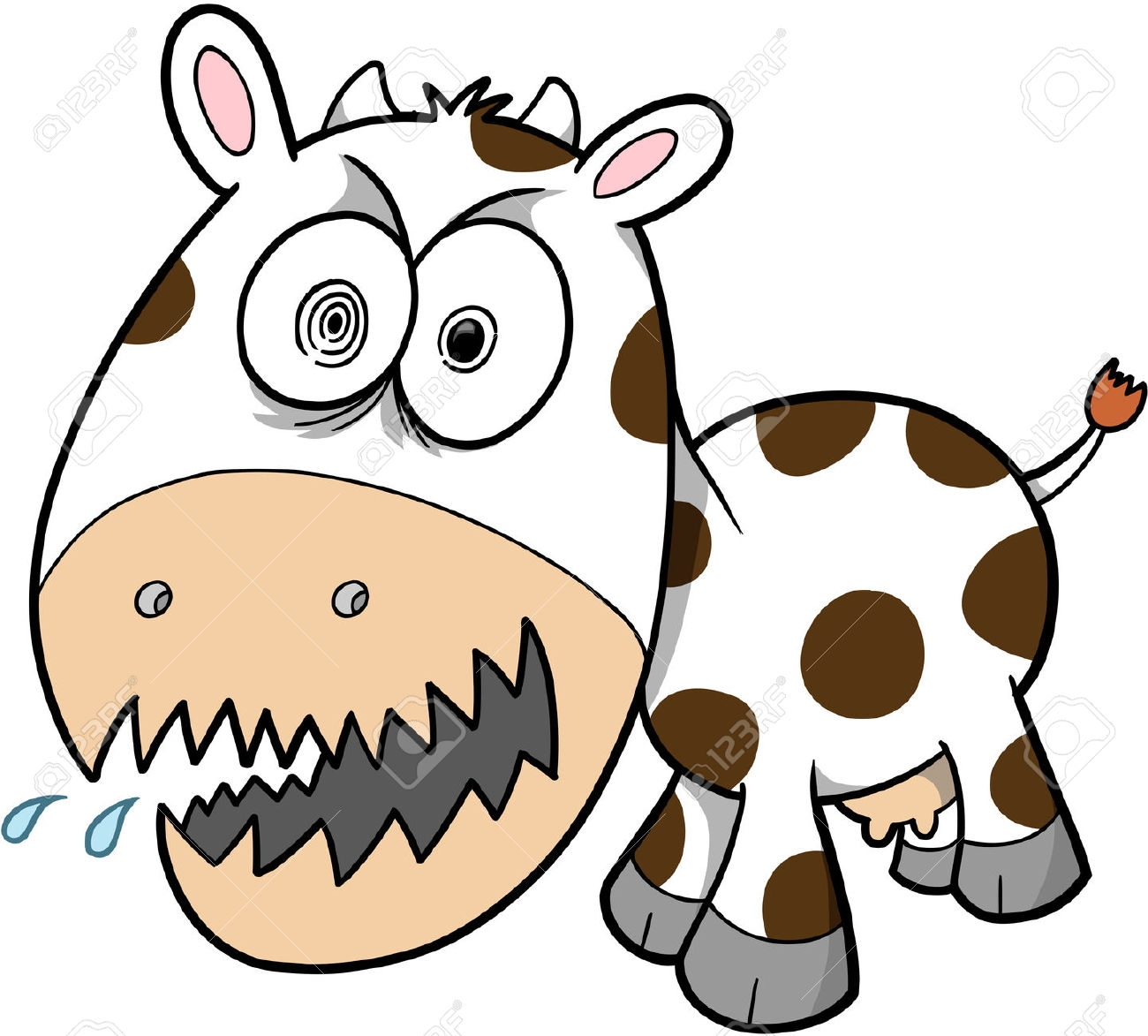 1300x1173 Angry Cow Clipart Clipartfest