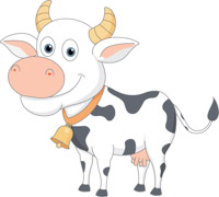 200x180 Free Cow Clipart