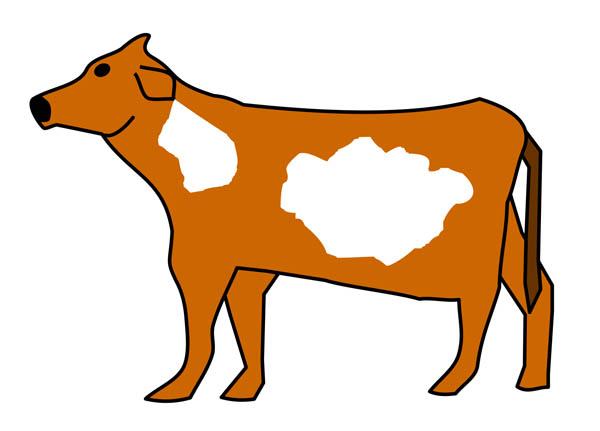 600x431 Cow Clip Art
