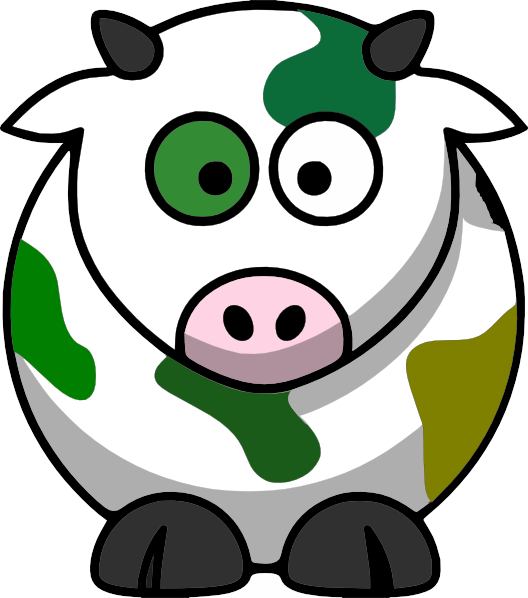 528x598 Camo Cow PNG, SVG Clip art for Web