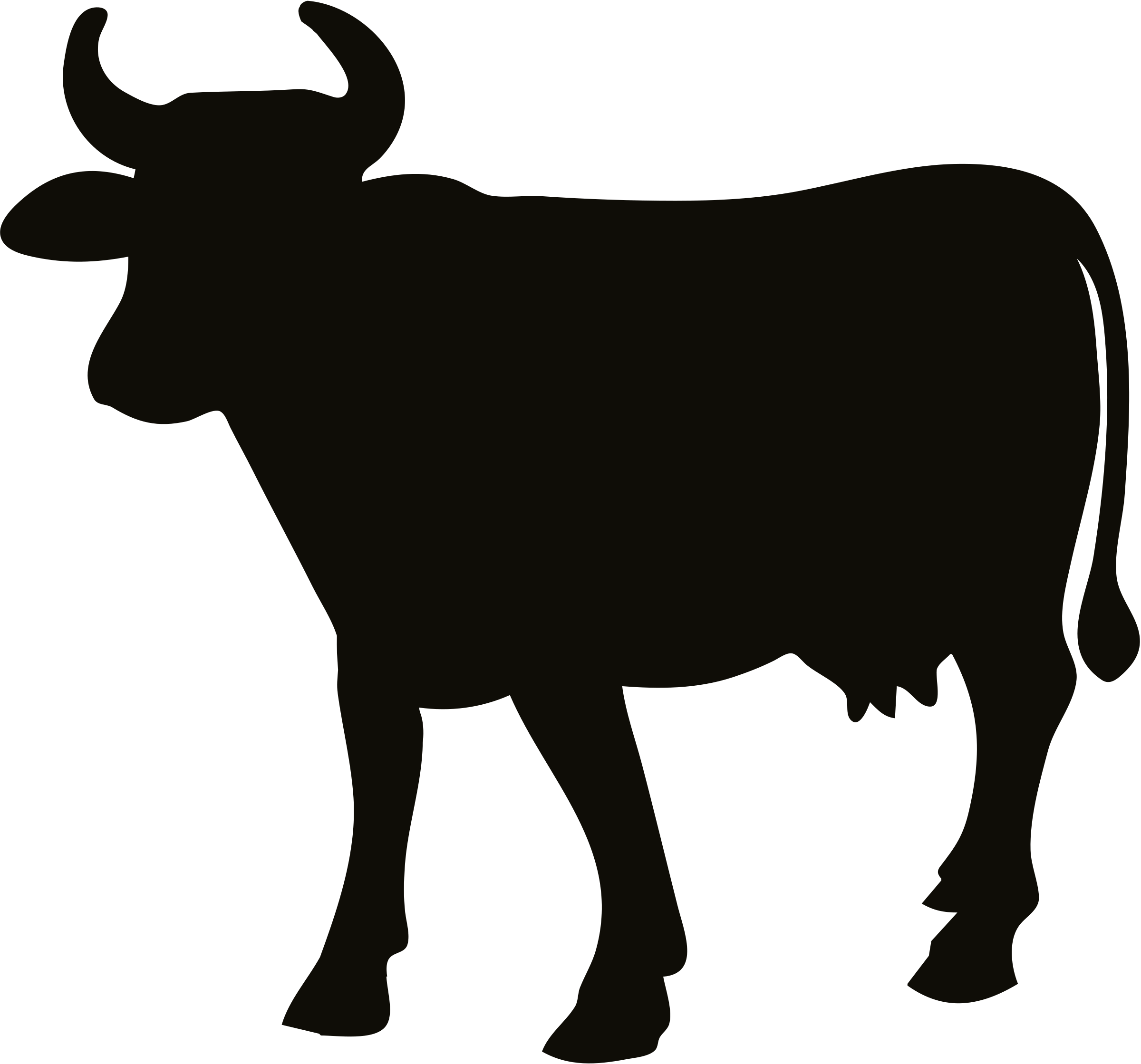 2400x2239 Clipart Cow Silhouette