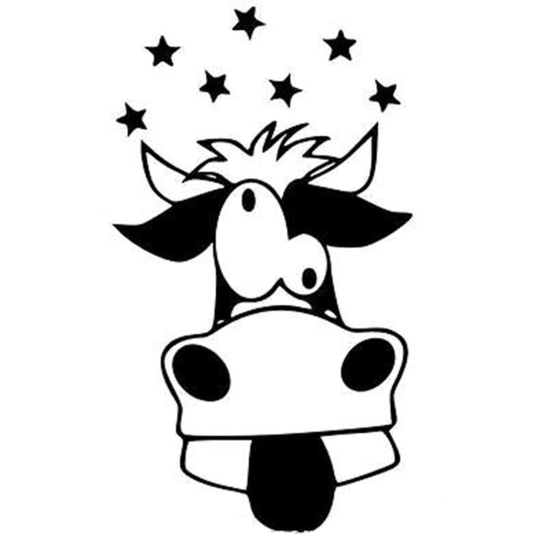 800x800 Cow Clipart Funky