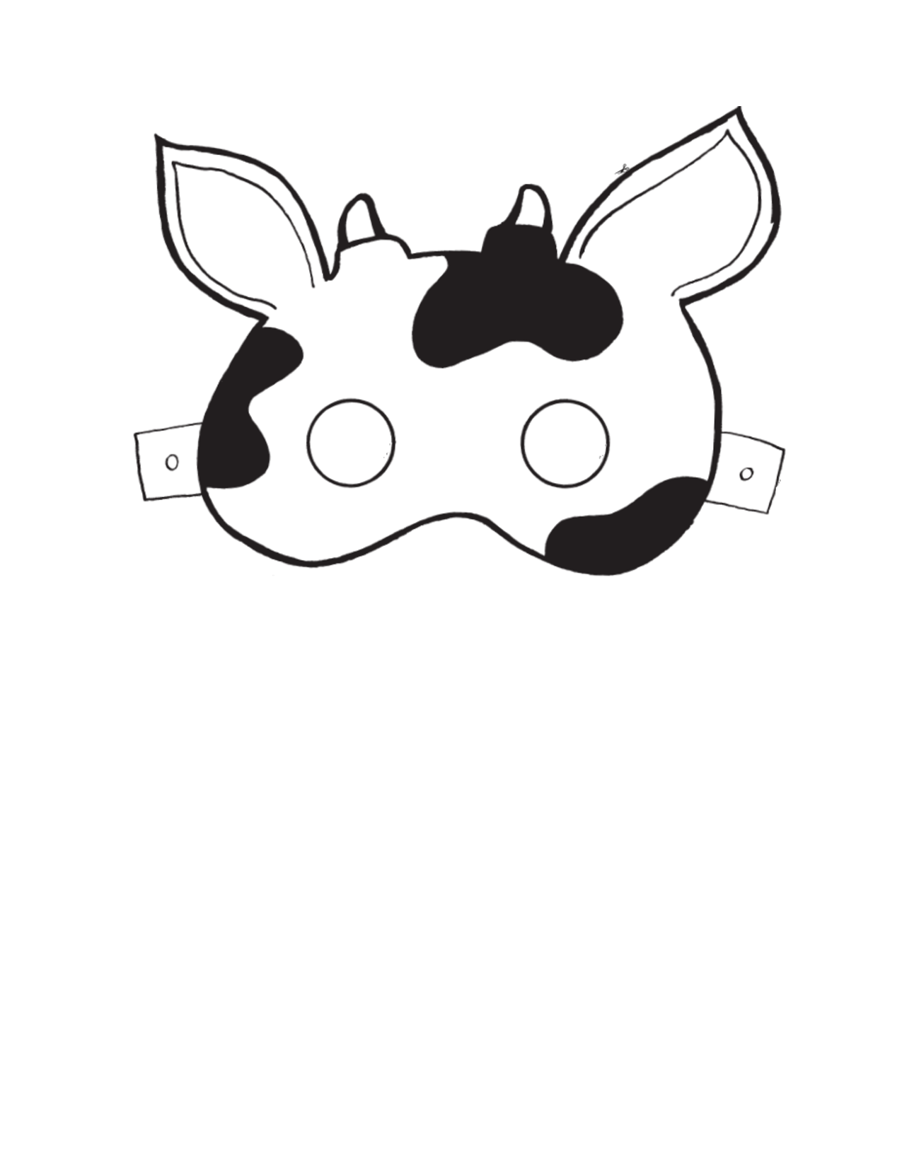 1275x1650 Cow Clipart Template