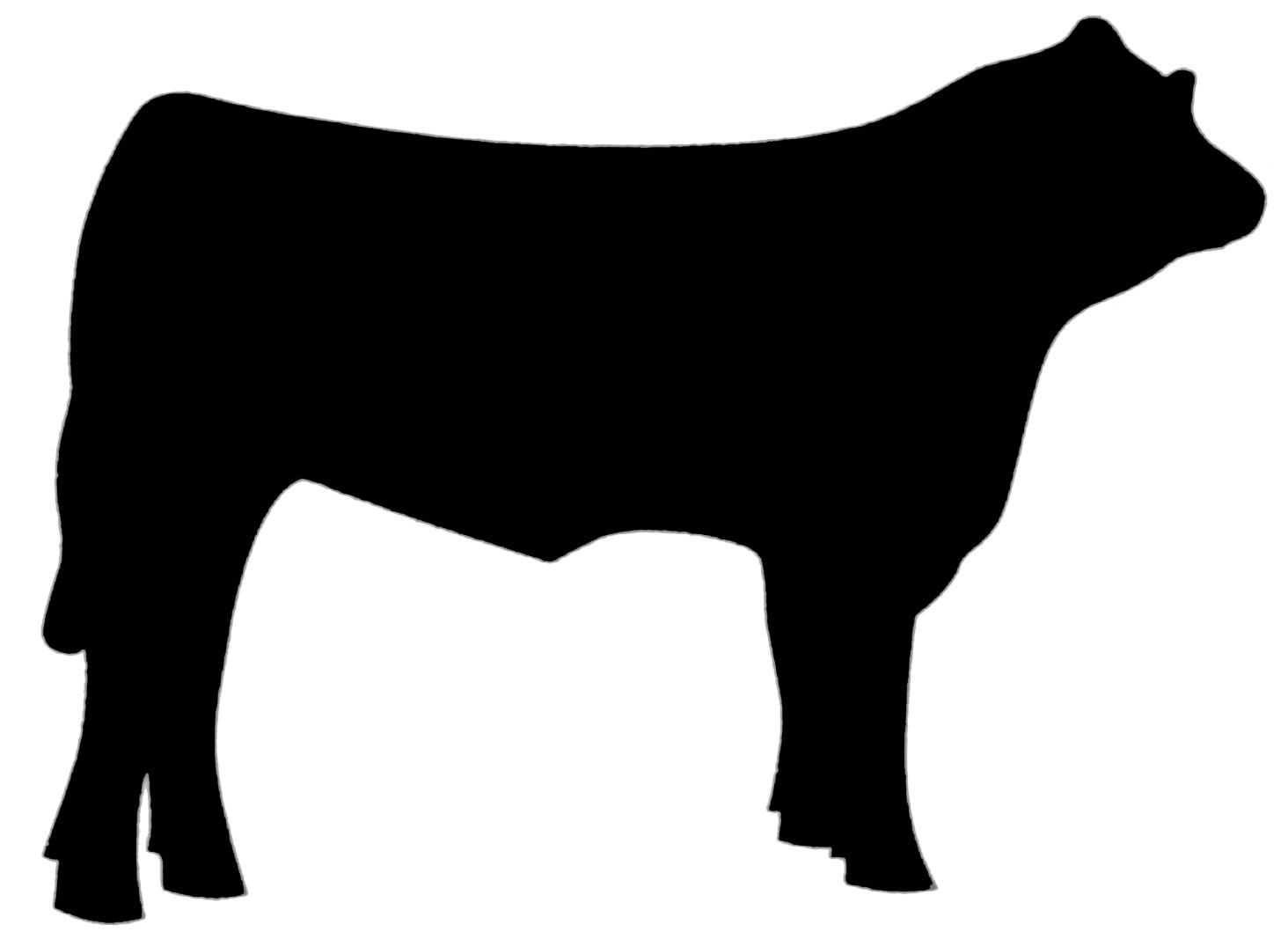 1464x1067 Cow Silhouette Clip Art 5