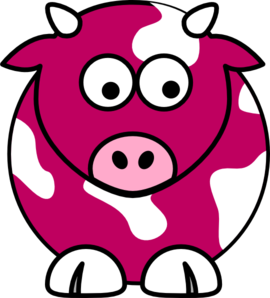 270x298 Coral Cow Clip Art