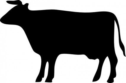 425x280 Cow Silhouette Clip Art Vector Clip Art Free Vector Free Download