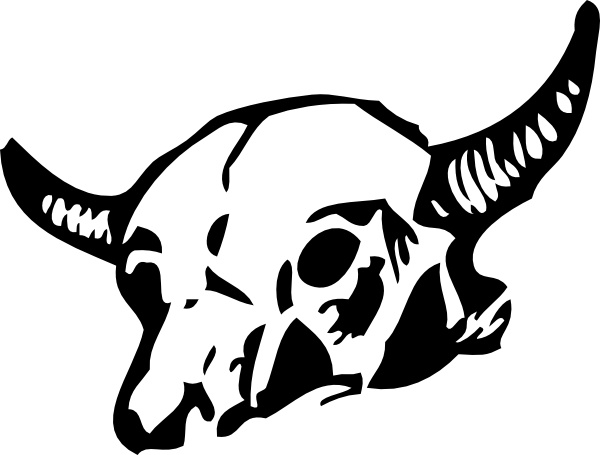 600x455 Cow Skull Clip Art Free Vector In Open Office Drawing Svg ( Svg