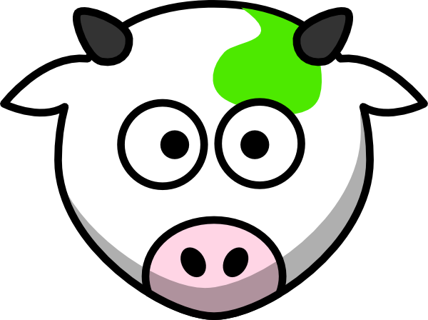 600x448 Cow Clipart Green