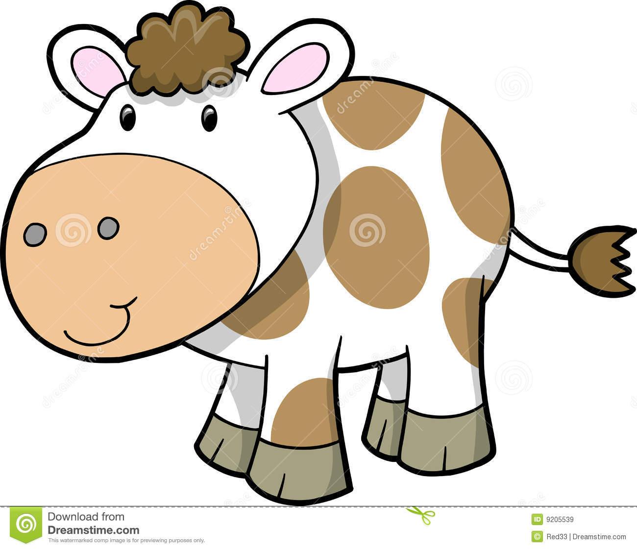 1300x1123 Cute Cow Cartoon Clipart