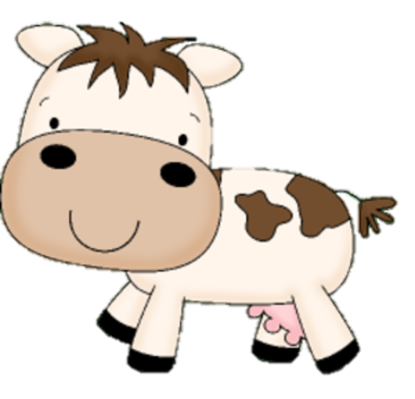 600x576 Baby Cow Clipart