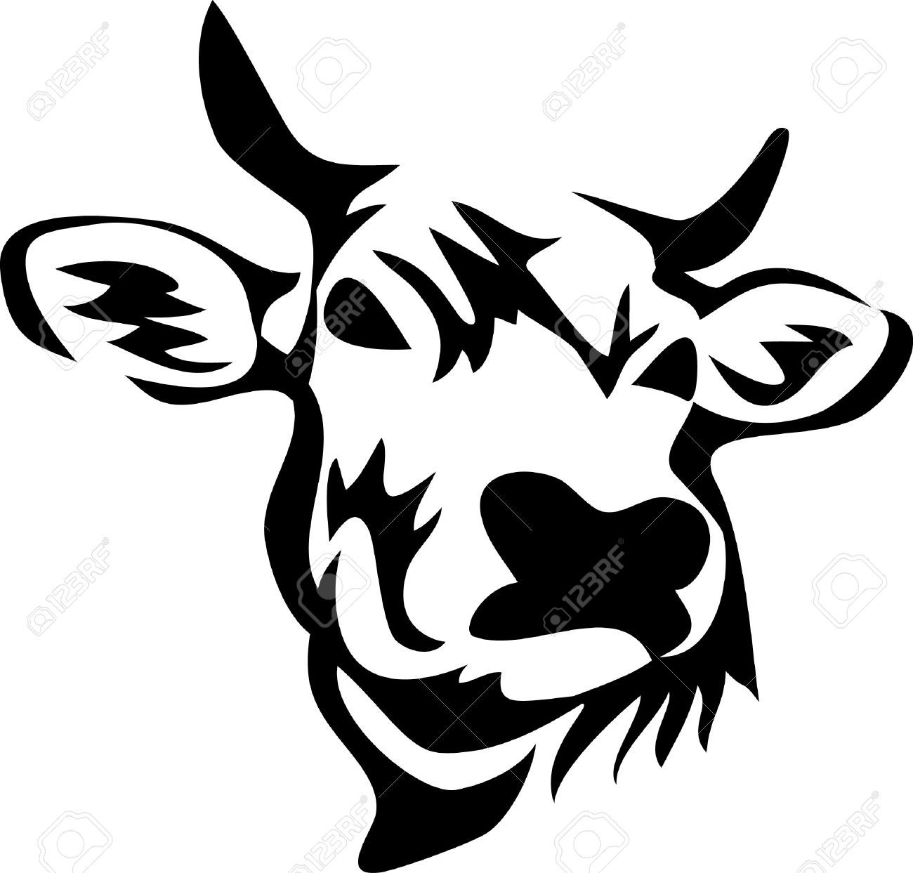 1300x1243 Cattle Clipart Cow Head