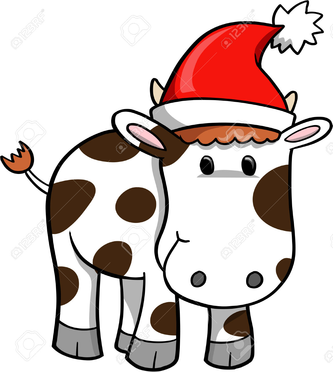 1165x1300 Christmas cow clipart