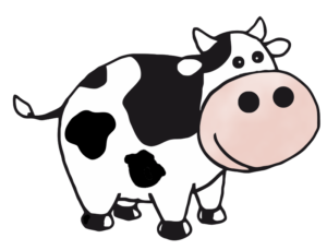 300x229 Swiss Cow Clipart
