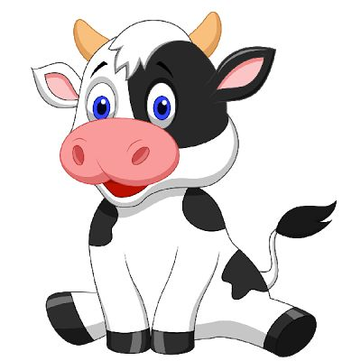 400x400 Baby Cow Clipart