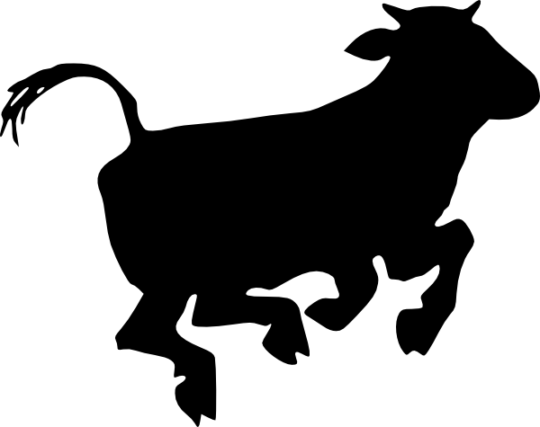 600x475 Black Cow Clipart