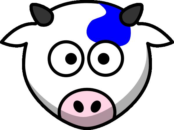 600x448 Blue Cow Clip Art