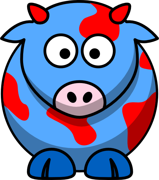 528x598 Bluered Cow Clip Art