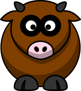 264x299 Brown Cow Png, Svg Clip Art For Web