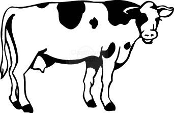 342x222 Cow Clipart