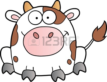 450x346 Cute Baby Cow Cartoon Royalty Free Cliparts, Vectors, And Stock