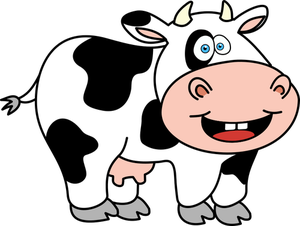 300x226 6816 Funny Cow Cartoon Clip Art Public Domain Vectors