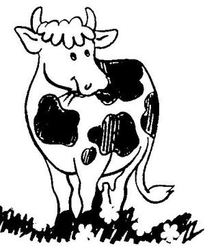 300x364 The Best Cow Coloring Pages Ideas Coloring