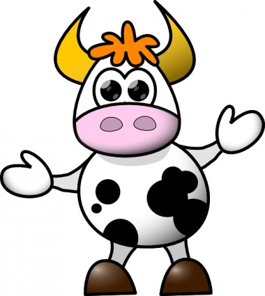 380x425 Baby Cow Clipart