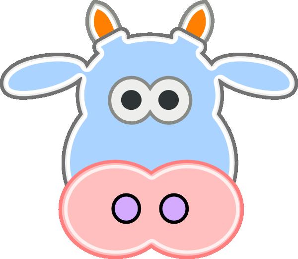 600x521 Cow Head Soft 2 Clip Art