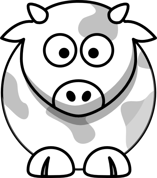 528x598 Cow Outline Clip Art