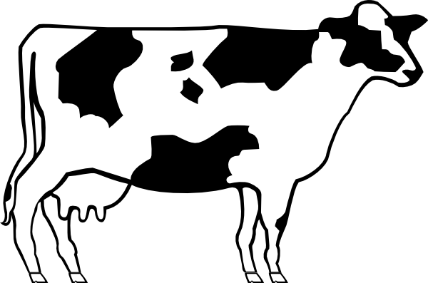 600x397 Cute Cow Face Clipart