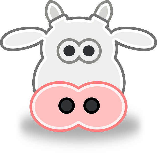 640x628 Free Cartoon Cow Face Clip Art